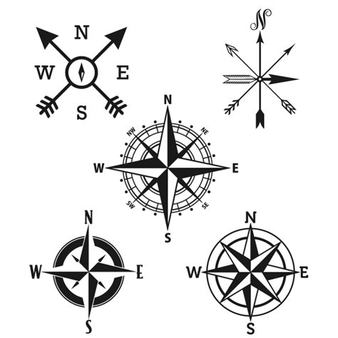 line drawing compass clipart best compass rose svg cuttable designs
