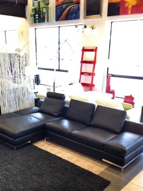modern sectional sofas toronto leather sectional sofa on display furniture toronto modern leather minimalist designed