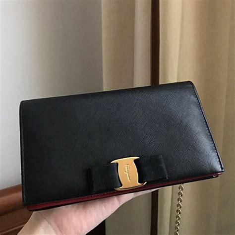 Salvatore Ferragamo Vara Woc Authentic salvatore ferragamo wallet on chain woc vara luxury bags wallets on carousell