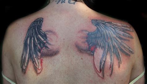colored wings tattoo wings tattoos designs ideas page 19