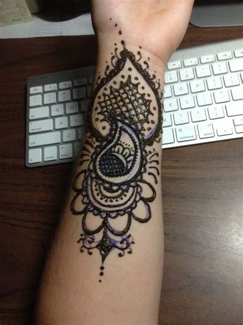 forearm henna tattoos henna arm by blackwaterpanther on deviantart