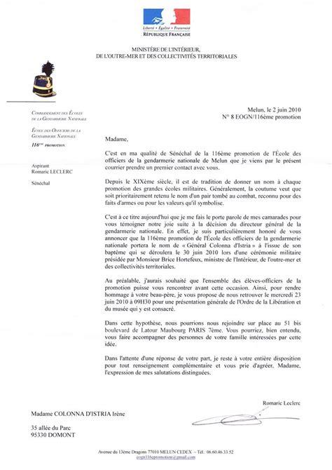 Lettre De Presentation Gendarmerie Sans Titre 1