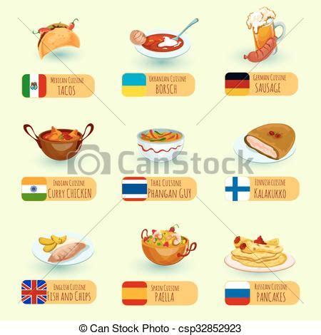 clipart cibo cibo mondo set decorativo cucina salsiccia set