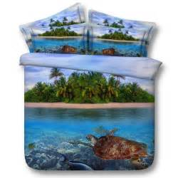 Sea Turtle Bedding King Queen Amp Twin Size Sea Turtle Ocean Beach Duvet Cover