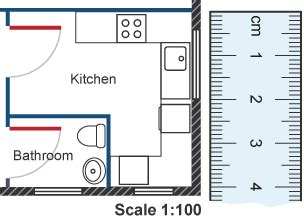 Drawing Kitchen Plans To Scale by Bitesize Gcse Maths Ratio In Context Revision 6