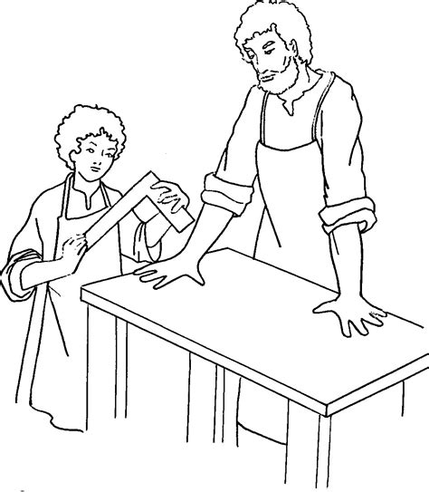 st jospeh colouring pages
