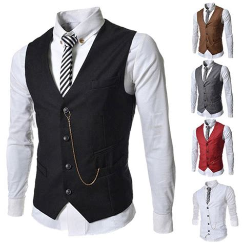 Stylish Vests by 2017 Vests Outerwear Casual Suits Slim Fit Stylish