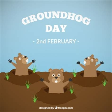 groundhog day vostfr lovely happy groundhog day background vector free