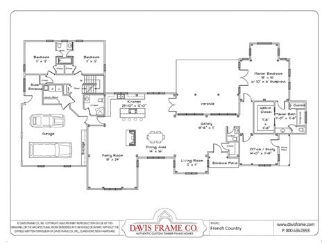 1 Level House Plans by One Story House Plans With Open Floor Plans Small One