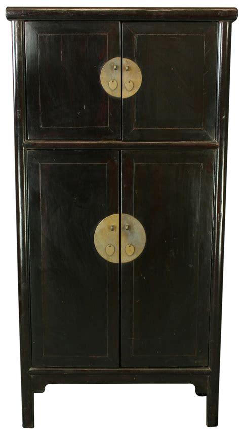 black storage armoire antique chinese black storage cabinet armoire wardrobe ebay