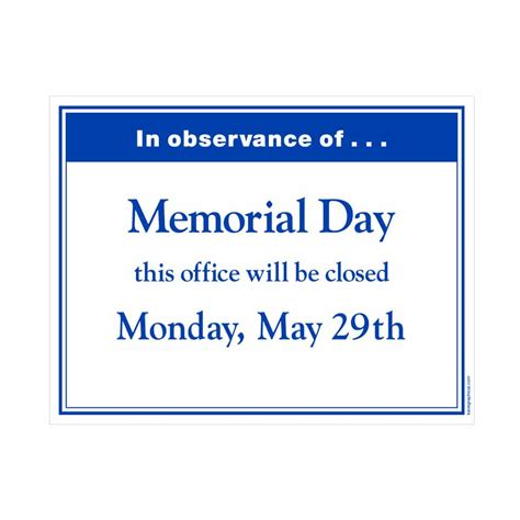 19 images of template office closed memorial day weekend 2016