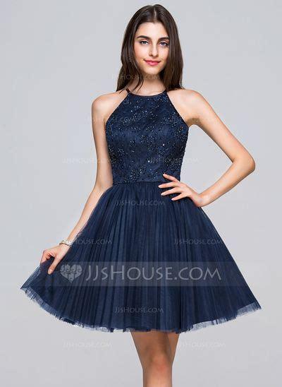 Minidress Renda vestidos princesa formato a decote redondo curto mini tule renda vestido de vestidos festa