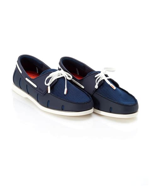 swims navy lace loafer swims mens boat shoes navy and white lace loafer