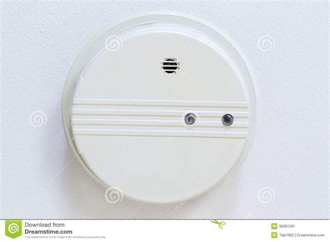 Ceiling Smoke Detector home smoke detector mounted on ceiling stock image image 36081261