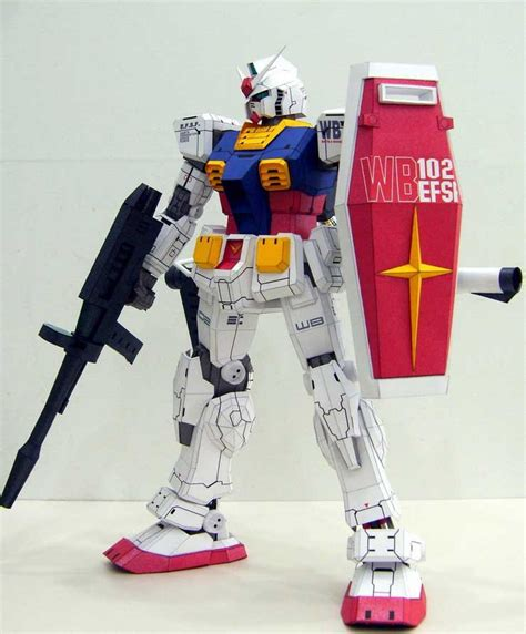 Paper Craft Gundam - rx 78 2 gundam papercraft by rarra