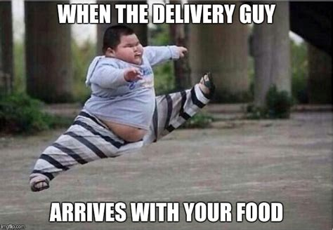 Meme Fat Chinese Kid - image tagged in fat kid fat kid jump kick delivery fast food food imgflip