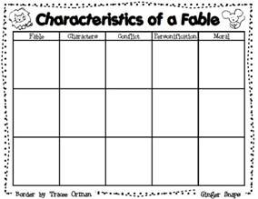 Writing A Fable Template by Snaps Fable Graphic Organizer And A Lesson Plan