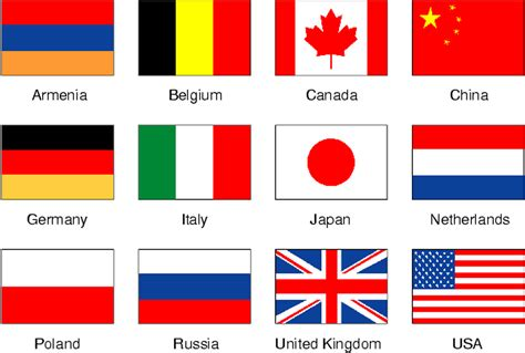 all flags of the world printable 9 best images of printable flags of different countries