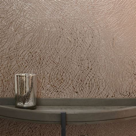 rose gold wallpaper ebay arthouse abstract foil swirl metallic vinyl wallpaper