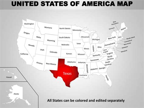 map of america that can be edited usa country editable powerpoint maps with states and counties