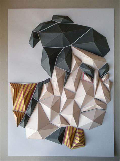 3d Shapes Paper Folding - origami mosaics mosaic marble