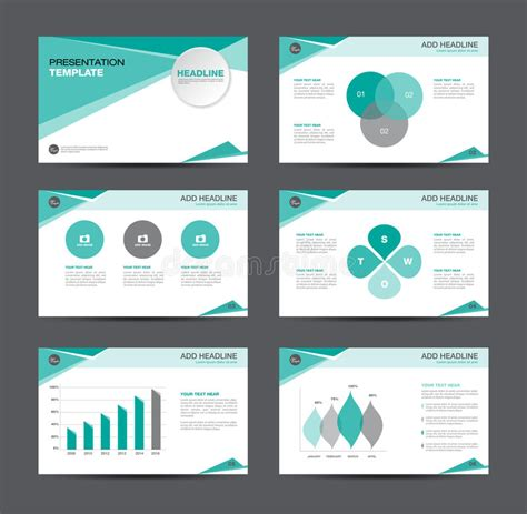 layout presentation illustrator business presentation template design stock vector