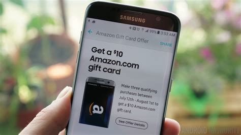 Pay With Amazon Gift Card - get a 10 amazon gift card for making three samsung pay purchases android authority
