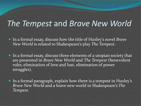 themes in hamlet and brave new world ppt prompt attention writing about literature from