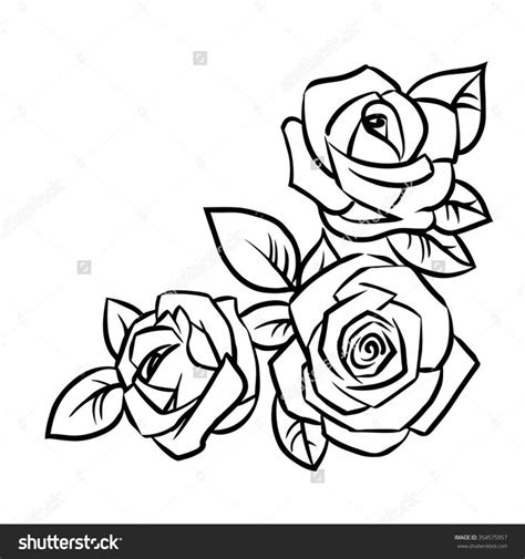 simple tattoo outlines simple rose outline drawing google search tattoos