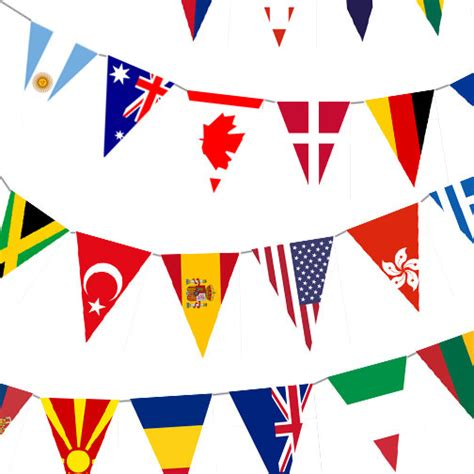 flags of the world garland instant download world flag banner