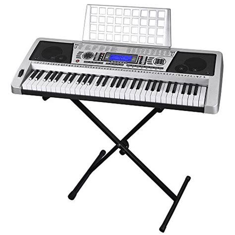Lcd Keyboard Yamaha silver 61 key lcd display electronic keyboard 37 quot w black