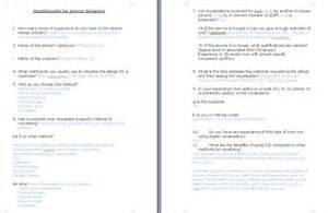 Kitchen Design Questionnaire Cliffcookie 2nd Artefact Questionnaires