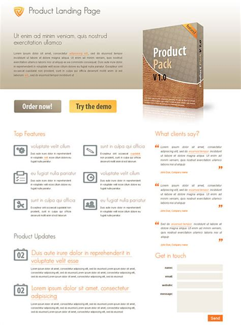 landing page html templates best of free web landing page templates designfreebies