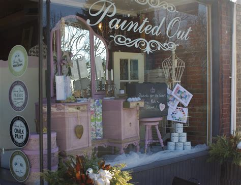 chalk paint ontario painted out valentines store front window henrietta
