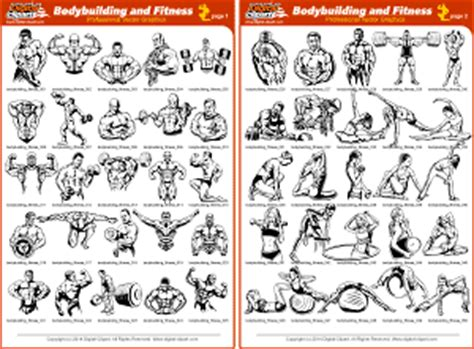 bodybuilding exercises pictures pdf images