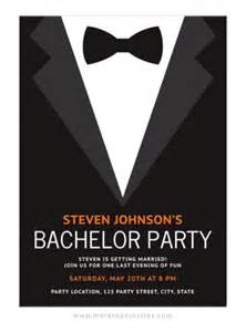 bachelor invitation with black bow tie more than invites
