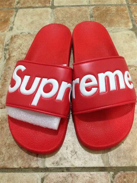 supreme slippers 2014 supreme slides sandals slippers white box logo new 10