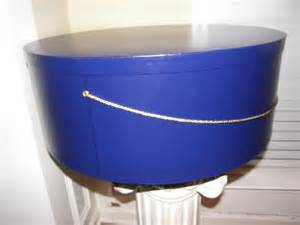 Extra large 22 inch hat box in royal blue perfect for you derby hat