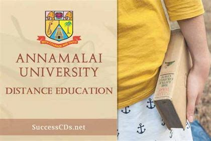 Annamalai Distance Mba by Distance Education Admissions 2018 Distance Learning