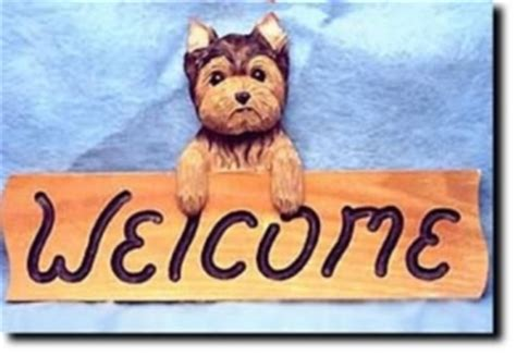 yorkie welcome sign terrier flags garden decor