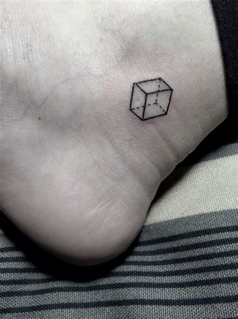 cube tattoo 40 adorable itty bitty ankle tattoos tattooblend
