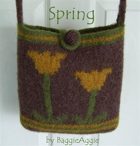 felted purse knitting patterns no sew felted bag purse by baggieaggie craftsy