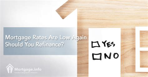 mortgage rates are low again should you refinance
