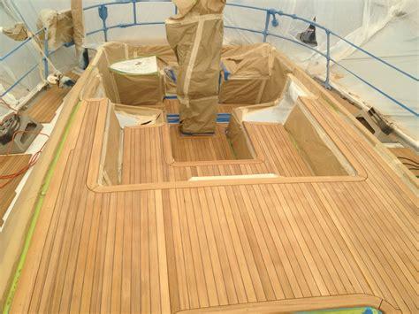 teak deck teak decking installation swan sailboat teak decking