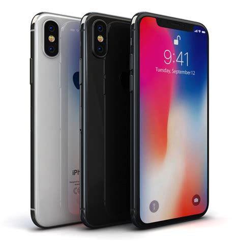 3d apple iphone x color model turbosquid 1224169