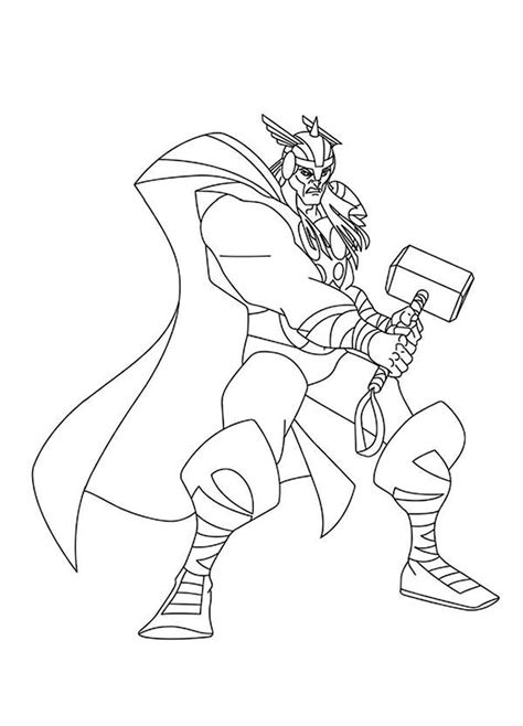 free thor vs hulk coloring pages