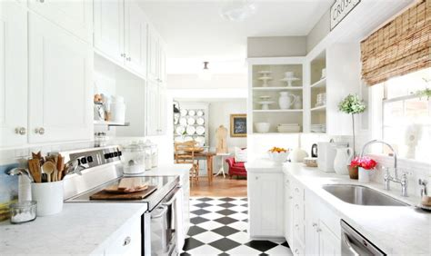 Black And White Kitchen Floor Black And White Checkered Kitchen Floor Home Decorating Trends Homedit