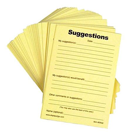 rsa lead card for exhibitors template suggestion forms pad of 100