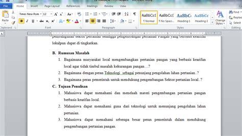 cara membuat rumusan masalah pada laporan cara pembuatan makalah terbaik dan terbaru geografi