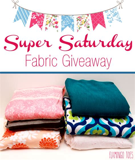 Saturday Giveaway - super saturday fabric giveaway flamingo toes